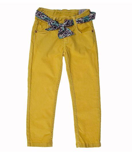 Pantalon 5 Bolsillos Amarillo 12