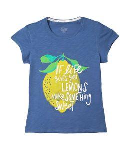 Camiseta-Niña-Morado