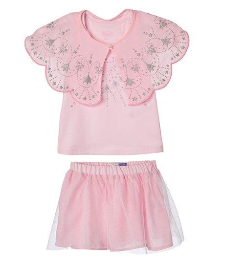 Conjunto-Camiseta-Capa-Falda-Bebe-Niña-Rosado