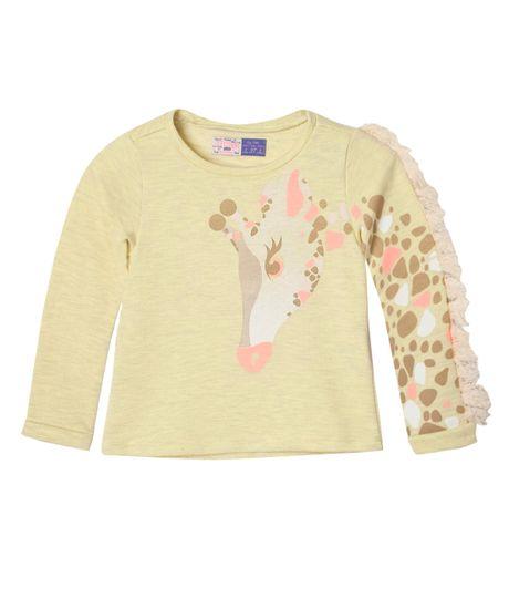 Camisetas-Bebe-Niña-Amarillo