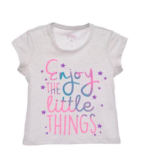 Camisetas-Niña-Gris