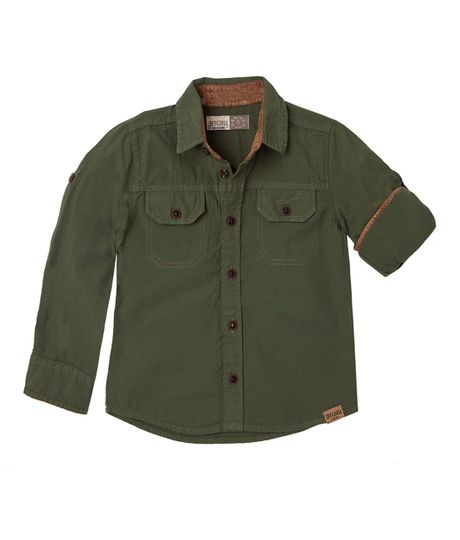 Ropa-Bebe-Niño-Camisas-Verde