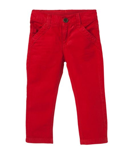 Jeans-y-Pantalones-Ropa-bebe-nino-Rojo