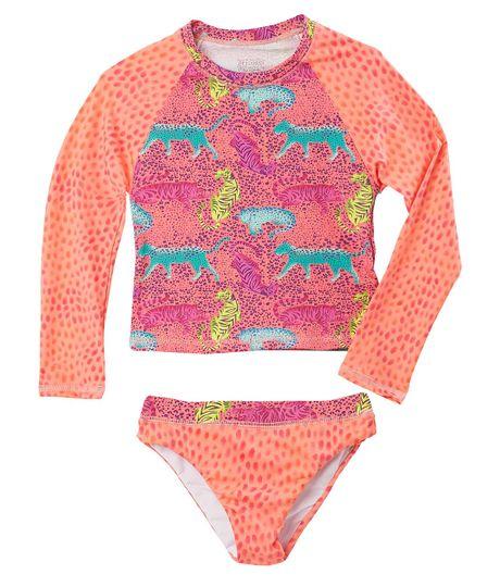 Vestido-De-Baño-Ropa-nina-Naranja