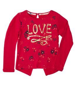 Camisetas-Ropa-bebe-nina-Rojo