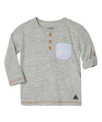 Camisetas-Ropa-recien-nacido-nino-Gris