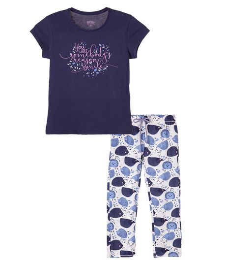 Pijamas-Ropa-nina-Azul