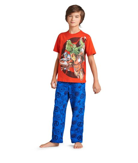 Pijamas-Ropa-nino-Rojo