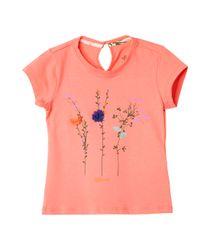 Camisetas-Ropa-bebe-nina-Naranja