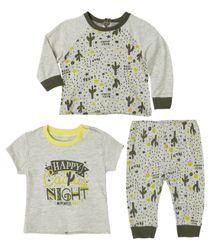 Pijamas-Ropa-recien-nacido-nino-Gris-Jaspe