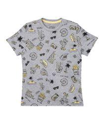 Camisetas-Ropa-nino-Gris-Jaspe