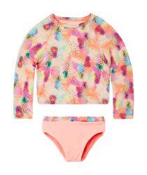 Vestidos-de-baño-Ropa-recien-nacido-nina-coral-neon