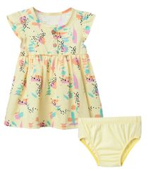 Vestido--Ropa-recien-nacido-nina-Amarillo