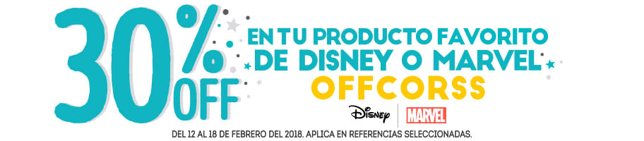 30% OFF - LEN TU PRODUCTO FAVORITO DE DISNEY O MARVEL