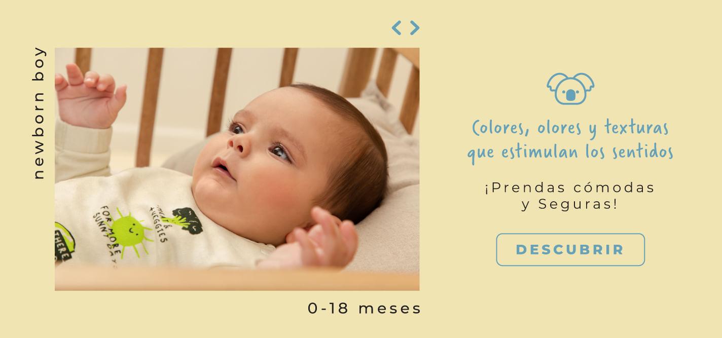 Newborn Boy - Colores, olores y texturas que estumulan los sentidos - prendas cómodas y seguras OFFCORSS