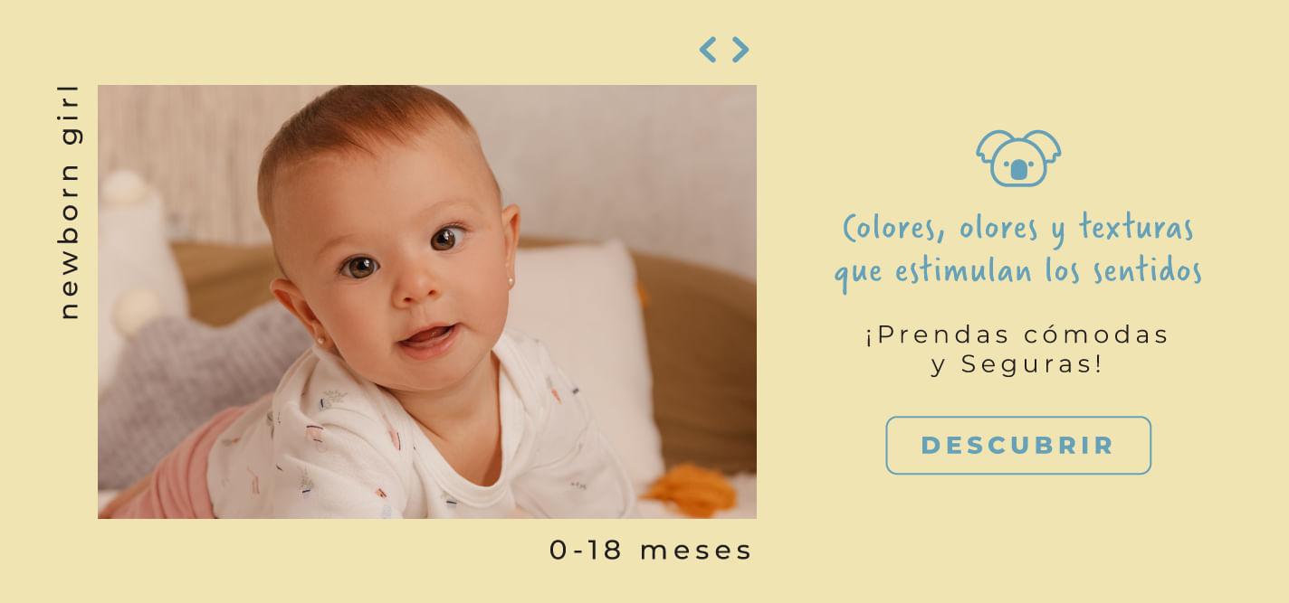 Newborn Girl - Colores, olores y texturas que estumulan los sentidos - prendas cómodas y seguras OFFCORSS
