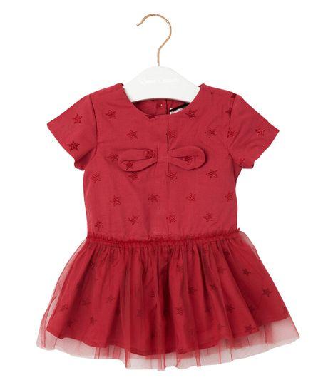 Vestidos-Ropa-recien-nacido-nina-Rojo