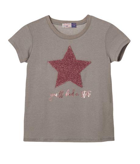 Camisetas-Ropa-nina-Gris