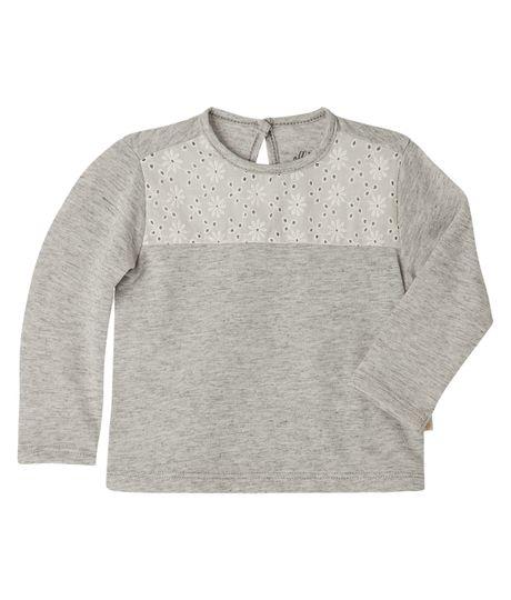 Camisetas-Ropa-recien-nacido-nina-Gris