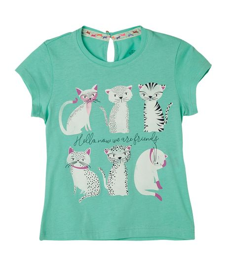 Camisetas-Ropa-bebe-nina-Turquesa
