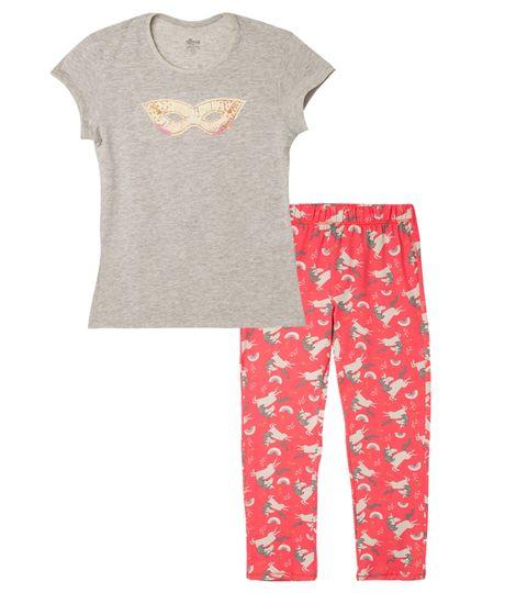 Pijamas-Ropa-nina-Gris