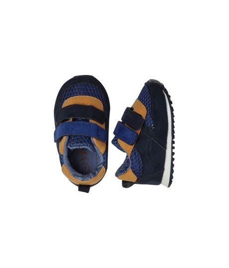 Zapatos-Ropa-recien-nacido-nino-Azul