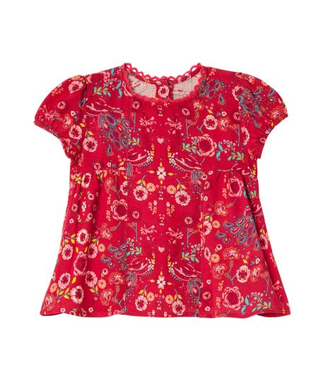 Camisas-Ropa-recien-nacido-nina-Rojo