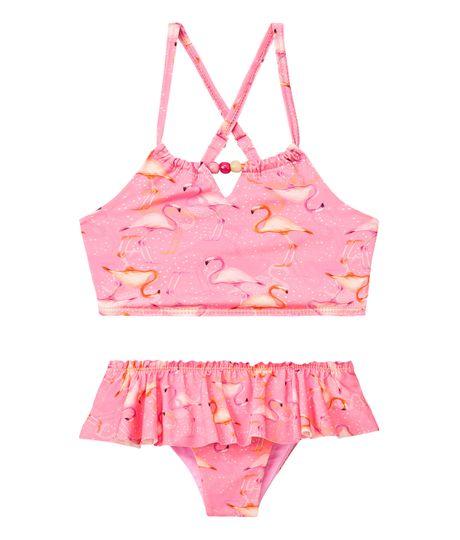 Vestidos-de-baño-Ropa-bebe-nina-rosado-neon