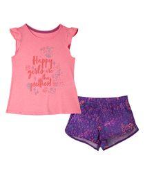 Pijamas-Ropa-bebe-nina-fucsia-neon