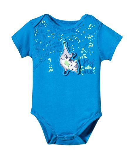 Body-y-One-piece-Ropa-recien-nacido-nino-Azul