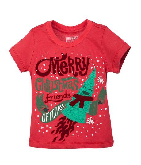 Camisetas-Ropa-bebe-nino-Rojo