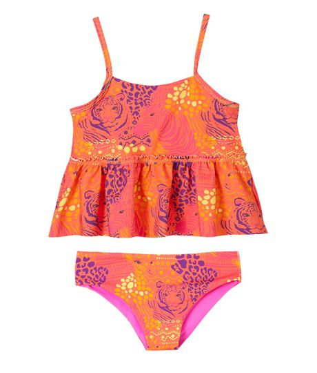 Vestidos-de-baño-Ropa-bebe-nina-coral-neon