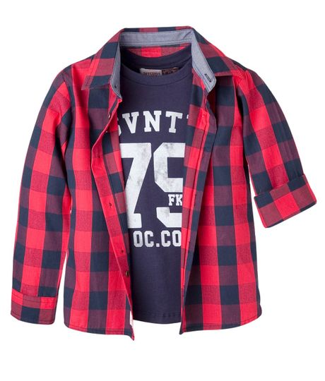 Camisas-Ropa-bebe-nino-Rojo