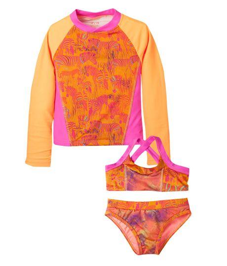 Vestidos-de-baño-Ropa-nina-Naranja-Neon-16-1357