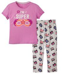 Pijamas-Ropa-nina-Violeta