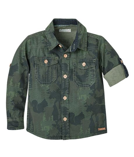Camisas-Ropa-bebe-nino-Verde