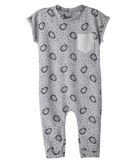 Body---One-piece-Ropa-recien-nacido-nino-Gris