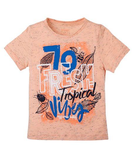 Camiseta-estampada-Ropa-bebe-nino-Naranja