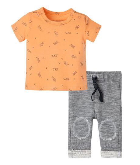 Conjunto-Ropa-recien-nacido-nino-Naranja