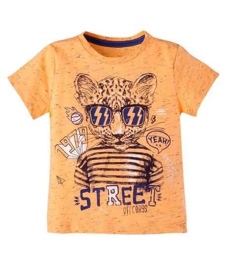 Camiseta--Ropa-bebe-nino-Naranja