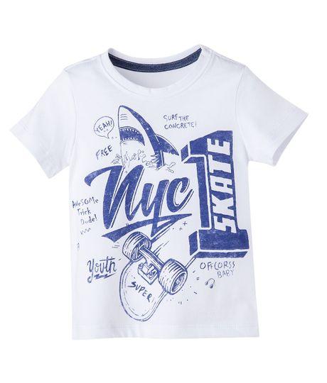Camiseta--Ropa-bebe-nino-Blanco