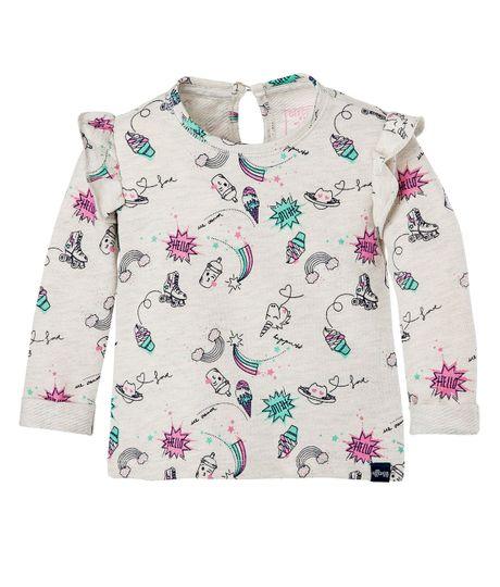 Camiseta-Ropa-bebe-nina-Gris