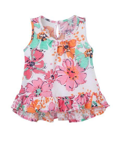 Camiseta-Ropa-bebe-nina-Blanco