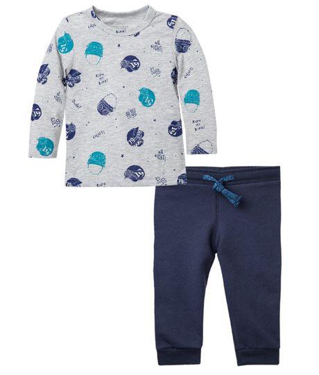 Pijama-Ropa-bebe-nino-Gris
