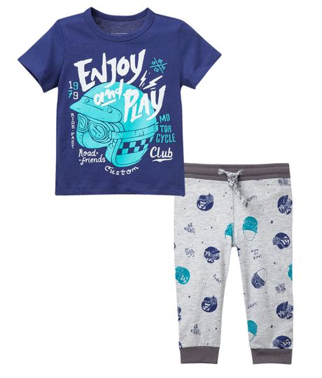Pijama-Ropa-bebe-nino-Azul