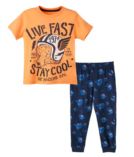 Pijama-Ropa-nino-Naranja