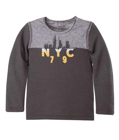 Camiseta-Ropa-bebe-nino-Gris