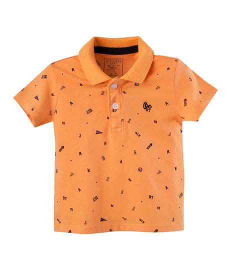 Camiseta-Ropa-bebe-nino-Naranja
