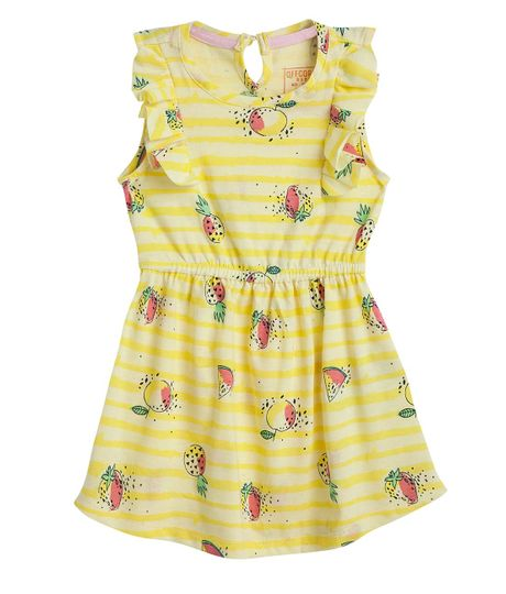 Vestido-Ropa-bebe-nina-Amarillo