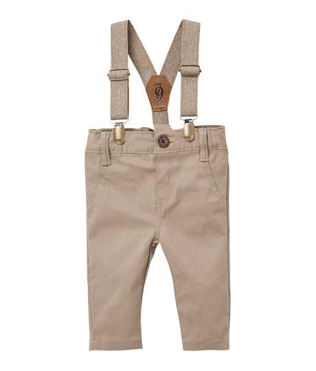 Pantalon-Ropa-recien-nacido-nino-Cafe